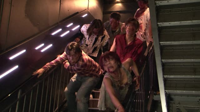 hundreds of zombies attack a tower in tokyo for halloween clean hundreds of zombies attack a tower in on october 31 2013 in tokyo japan - zombie stock videos & royalty-free footage