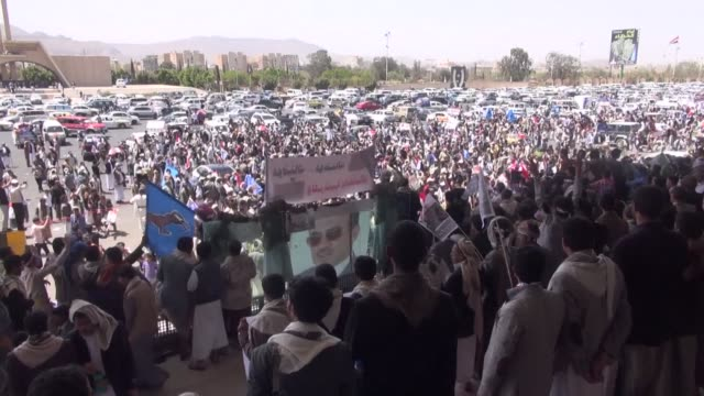 hundreds rallied in yemens militia controlled capital friday to call for presidential elections and demand the son of ex strongman ali abdullah saleh... - strongman stock videos & royalty-free footage