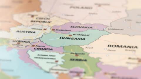 europa hungaria på världskartan - ungersk kultur bildbanksvideor och videomaterial från bakom kulisserna