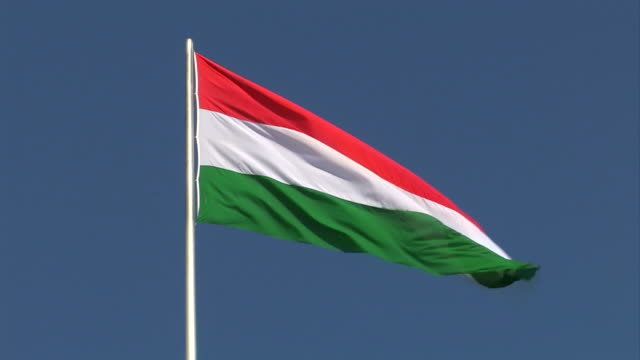 hungarian flag - hungary stock videos & royalty-free footage