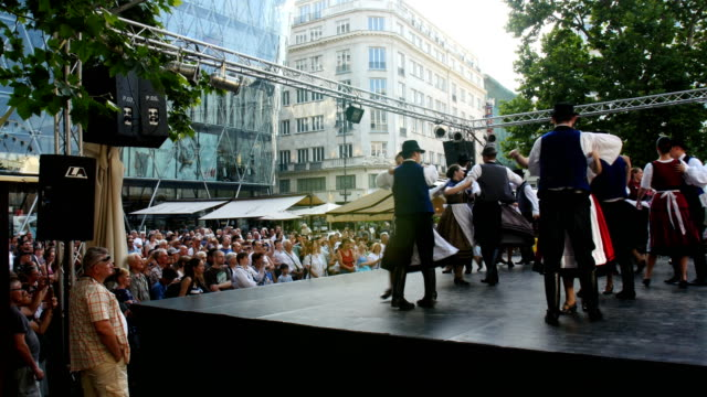 Hungarian folk Dance during Cultural Show in Budapest