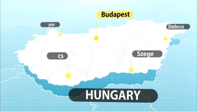 ハンガリーの地図 - 東欧文化点の映像素材/bロール