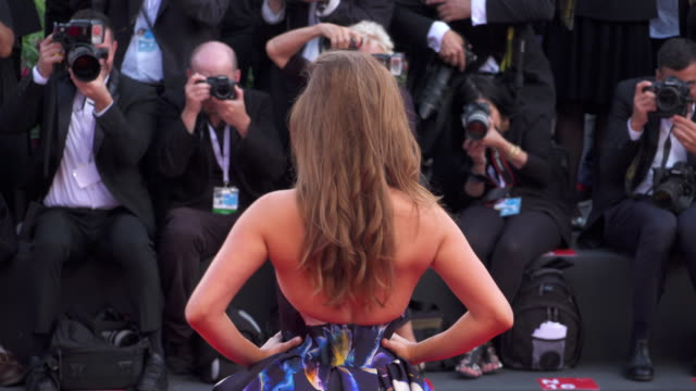 Hungarian model Barbara Palvin shines on the red carpet of 'First Man' during the 75th Venice Film Festival on August 29 2018 in Venice Italy