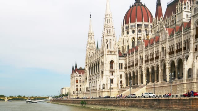 hungarian parliament building in budapest - river danube stock videos & royalty-free footage