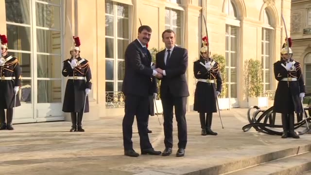 Hungarian President Janos Ader met with France's Emmanuel Macron at the Elysee palace on Tuesday hours before the start of the One Planet summit on...
