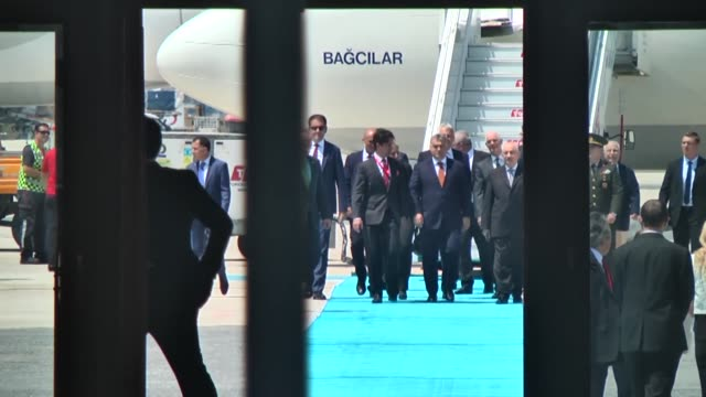 hungarian prime minister viktor orban arrives ataturk airport on june 29, 2017 to pay official visits in istanbul, turkey. - eastern european culture stock videos & royalty-free footage