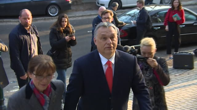 stockvideo's en b-roll-footage met hungarian prime minister viktor orban casting his vote in the hungarian general election - ensemble lid