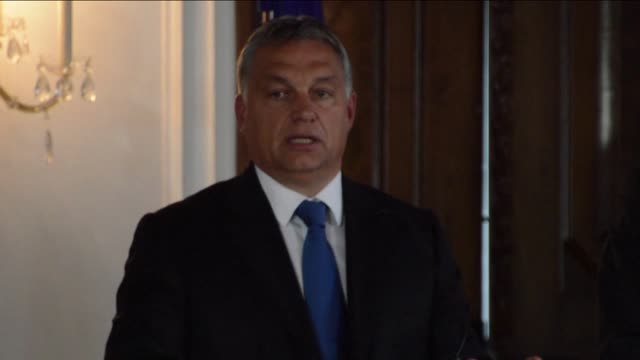 hungarian prime minister viktor orban on wednesday rejected what he called german chancellor angela merkel's moral imperialism in europe's migrant... - eastern european culture stock videos & royalty-free footage