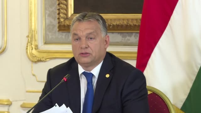 vídeos de stock e filmes b-roll de hungarian prime minister viktor orban says saturday after talks in vienna with leaders along the balkan migrants trail into europe that there was an... - cultura húngara