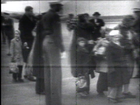 hungarian refugee children arrive at camp kilmer new jersey after leaving their native country after the hungarian revolution - traditionally hungarian stock videos & royalty-free footage