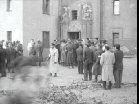 hungarian refugees flee into austria hungary / austria border gv car along gvs martin gray along from car day / snow gvs refugees and troops milling... - eastern european culture stock videos & royalty-free footage