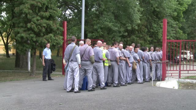 hungary is experimenting with a new programme in its overcrowded prisons: making inmates work to reimburse some of the cost of their time in jail.... - hungary stock videos & royalty-free footage