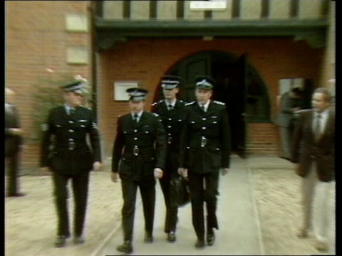 Hungerford MS Police officers out court towards past RL including Chief Inspector Glyn Lambert