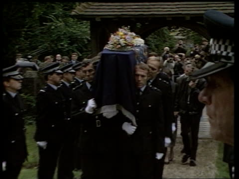 bravery awards hungerford massacre bravery awards injects shaw nr newbury st mary's church cms coffin towards carried by police bearers pull out ms... - newbury england stock videos & royalty-free footage