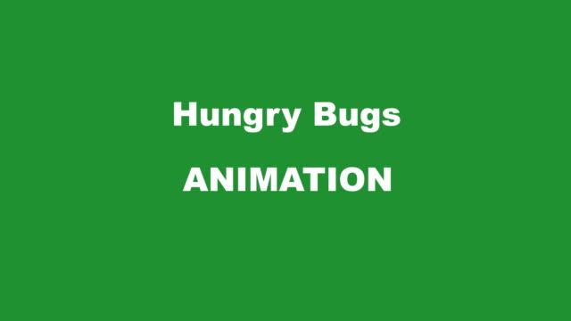 hungry bugs transition kit l/r all green mini - worm stock videos and b-roll footage