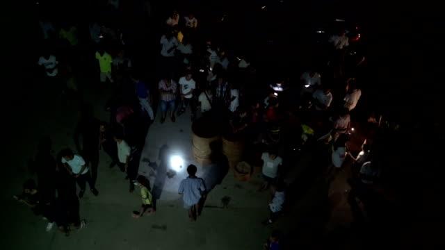 vidéos et rushes de hungry ghost festival in wangjia village at night - avoir faim