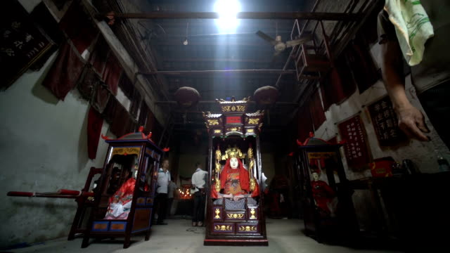 hungry ghost festival in wangjia village in taihe county - hungry stock videos & royalty-free footage