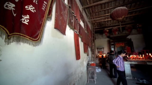 hungry ghost festival in wangjia village in the temple - hungry stock videos & royalty-free footage