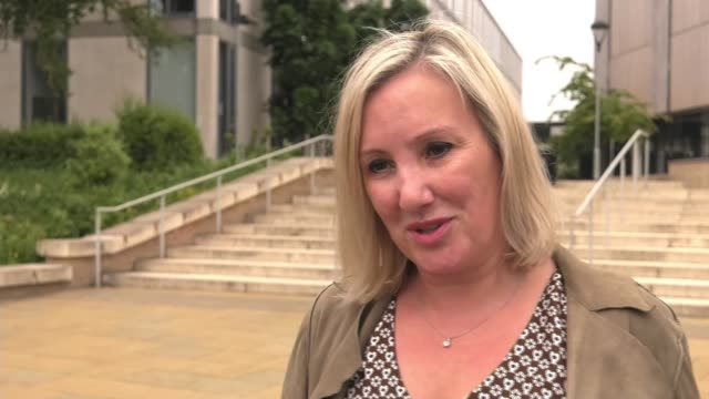 hunt orders a review of the gender pay gap; england: ext caroline dinenage mp interview sot - mp stock videos & royalty-free footage