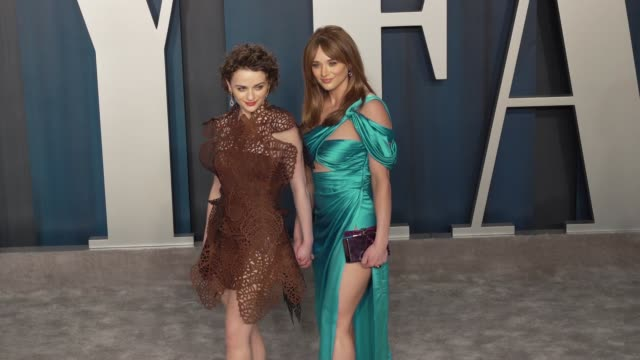 hunter king and joey king at vanity fair oscar party at wallis annenberg center for the performing arts on february 09, 2020 in beverly hills,... - vanity fair stock videos & royalty-free footage