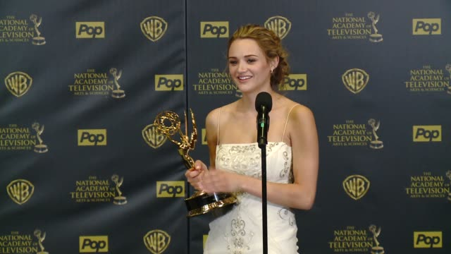 SPEECH Hunter King on winning the award at 42nd Annual Daytime EMMY Awards at Warner Bros Studios on April 26 2015 in Burbank California