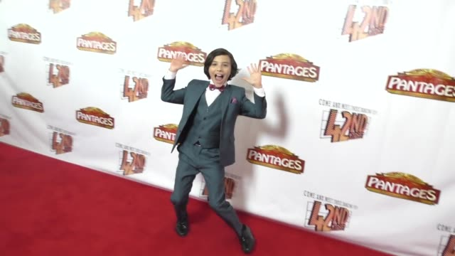 Hunter Payton at the Opening Night Of 42nd Street at the Pantages Theatre in Hollywood in Celebrity Sightings in Los Angeles