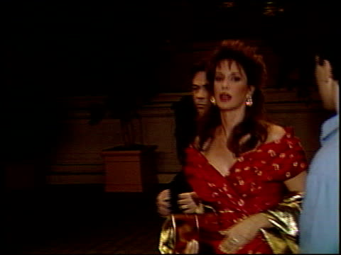 hunter tylo at the seventh annual soap opera awards at the biltmore hotel in los angeles, california on january 13, 1991. - soap opera stock videos & royalty-free footage
