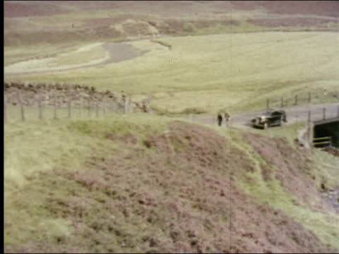 1953 hunting and fishing in the highlands of scotland - scottish culture video stock e b–roll