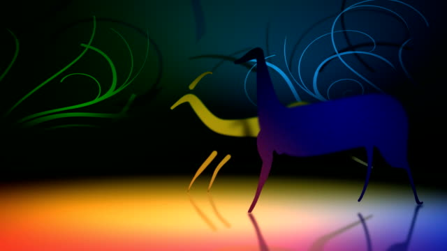 hunting - cave painting stock videos & royalty-free footage
