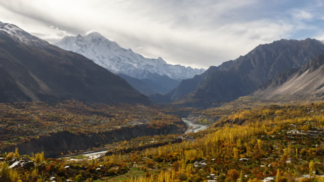 Hunza Valley famous travel location in Pakistan,Time-lapse 4k quality