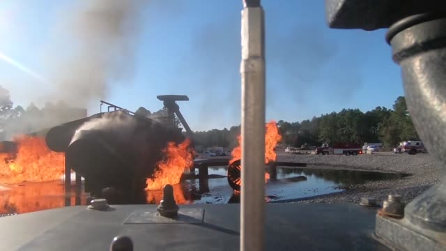 hurlburt firefighters respond to plane crash exercise - military exercise stock videos & royalty-free footage