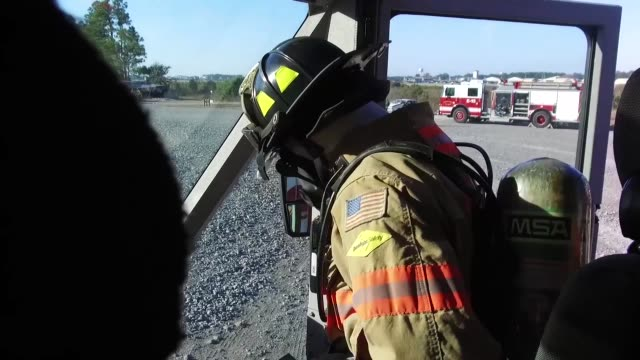 hurlburt firefighters respond to plane crash exercise - fire engine stock videos & royalty-free footage
