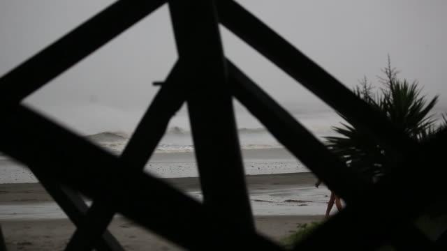 hurricane dorian passes offshore of charleston south carolina us on thursday september 5 2019 - carolina beach stock videos & royalty-free footage