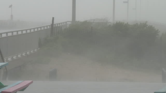 hurricane force wind gusts batter rockaway beach during tropical storm isaias queens new york new york - scott mcpartland stock videos & royalty-free footage