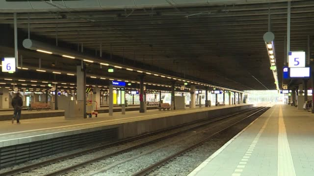 hurricane force winds halt trains in the hague - the hague stock videos and b-roll footage