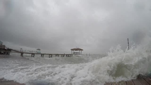 vídeos y material grabado en eventos de stock de hurricane harvey has intensified into a powerful category three storm according to us meteorologists as the gulf coast states of texas and louisiana... - gulf coast states