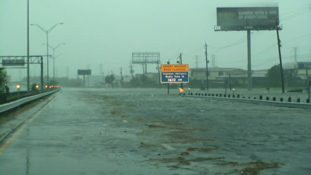 hurricane ike - two lane highway stock videos & royalty-free footage