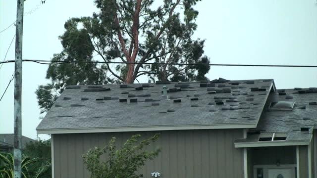 hurricane ike - roof stock videos & royalty-free footage