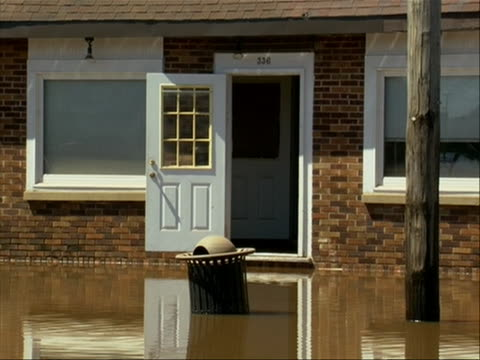 hurricane irene aftermath manville new jersey in this clip there is a home with water up to the door entrance hurricane irene of 2011 was an atlantic... - virginia us state stock videos & royalty-free footage