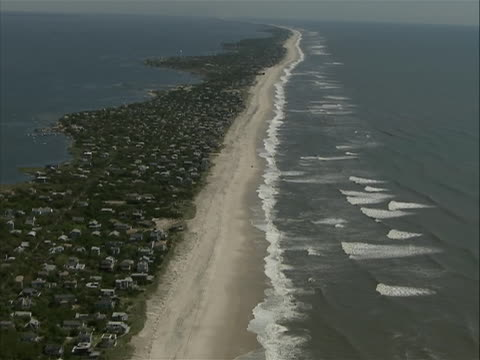 hurricane irene aftermath new york fire island aerial view of shoreline hurricane irene of 2011 was an atlantic hurricane that left extensive flood... - virginia us state stock videos & royalty-free footage