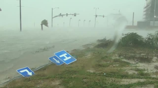 hurricane isaac pounds gulfport, mississippi. - tropical storm stock videos & royalty-free footage