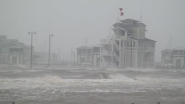 hurricane isaac strikes gulfport, mississippi. - tropical storm stock videos & royalty-free footage