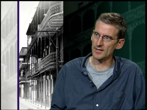 new orleans clive stafford smith interview sot hurricane katrina has divided the city a great deal only the poor people have been left behind - hurricane katrina stock videos and b-roll footage