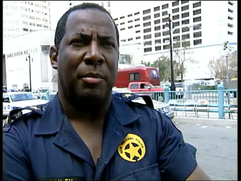 blame usa louisiana new orleans ext assistant police chief warren riley interview sot what went wrong federal government did not get here in time our... - hurricane katrina stock videos and b-roll footage