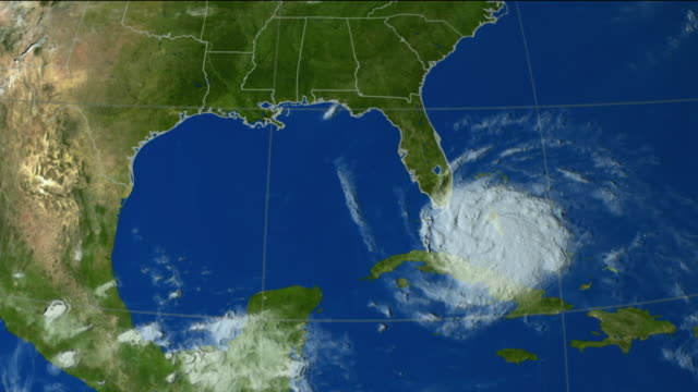 stockvideo's en b-roll-footage met t/l ws hurricane katrina from weather satellite data, usa - meteorologie