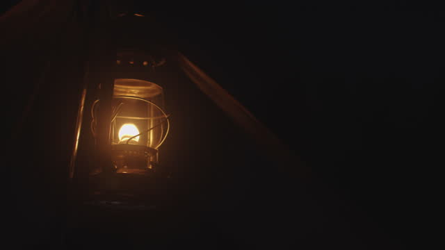 hurricane lamp device light for camping - lantern stock videos & royalty-free footage