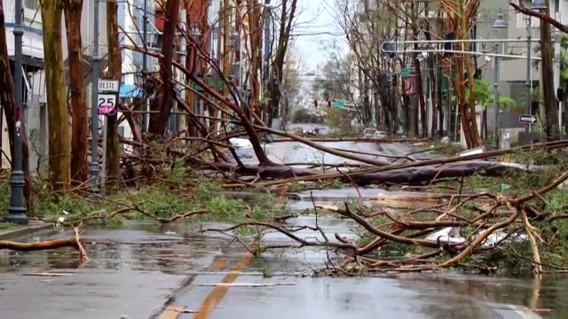 vídeos de stock, filmes e b-roll de hurricane maria caused devastation across puerto rico wednesday as 150 mile an hour winds from the island's worst storm in living memory flooded the... - porto riquenho