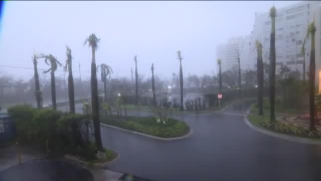 hurricane maria pummels carolina, puerto rico . - puerto rico stock videos & royalty-free footage