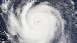 Hurricane Satellite View of Eye (HD)