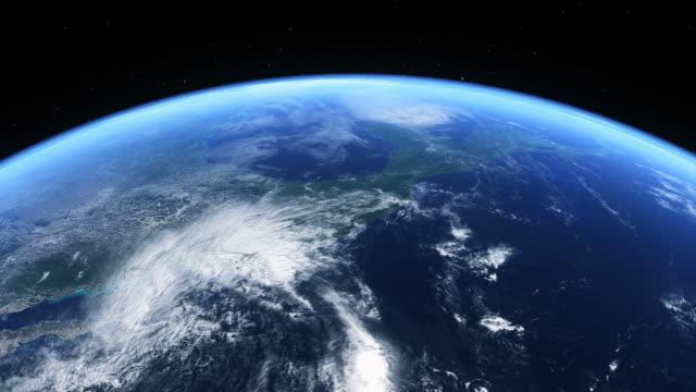 ハリケーンから見たスペース - 気象学点の映像素材/bロール